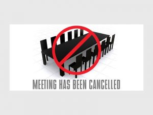 October Management Meeting - Cancelled